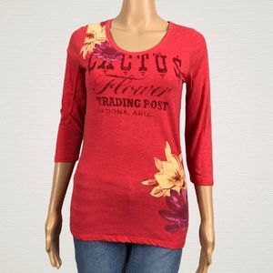Lucky Cactus Flower Trading Post Floral T-shirt